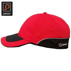 HI-VIS hat, red STD, Pesso