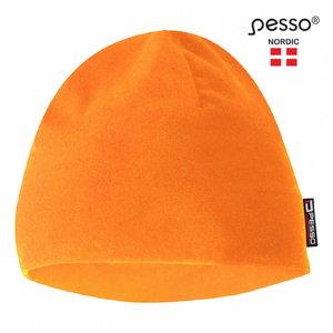 Warm winter Fleece Cap, orange, Pesso