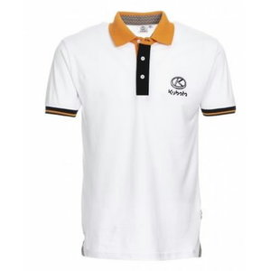 White men's short sleeved polo shirt, Kubota