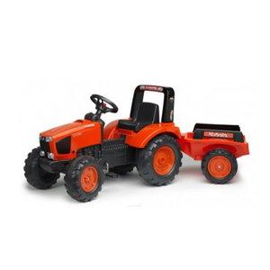 Pedaalidega traktor KUBOTA M135GX + käru