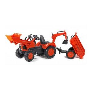 Pealeistutav  traktor  M135GX+laadur+käru+kopp, Kubota