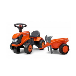 Baby  ride-on tractor with trailer, rake & shovel, Kubota