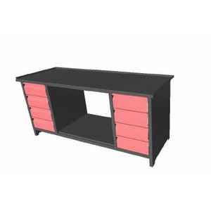 Worktable with 8 drawers