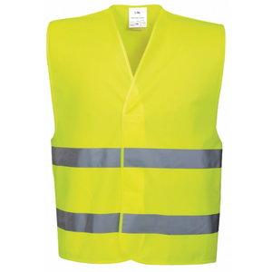 Hi.vis vest LS-RSV001, CL2 yellow S/M, Pesso