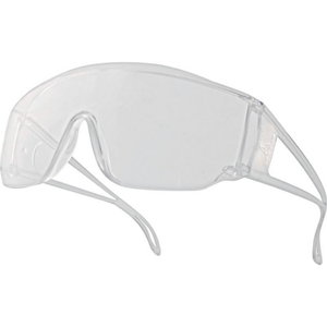 Piton CLEAR polycarbonate (PC) goggles, overglasses, Delta Plus