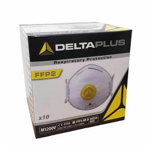 Disposable mask with valve FFP 2, 10-pack, Delta Plus