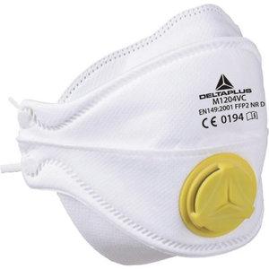 Disposable mask FFP2  M1204VD foldable + valve. 10 vnt., Delta Plus