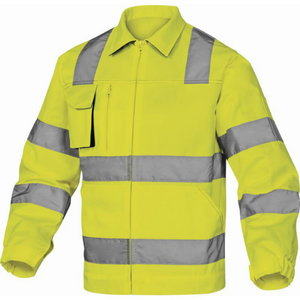 Work jacket M2VHV High visibility CL2, yellow, Delta Plus