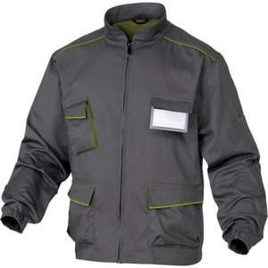 Darba jaka M6VES, pelēka/zaļa, XL, Delta Plus