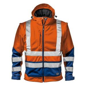 Softshell jakk 2in1 STARMAX, kõrgnähtav CL2, oranz/sinine S, Sir Safety System