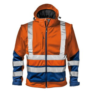 Softshell jakk 2in1 STARMAX, kõrgnähtav CL2, oranz/sinine 2XL, , Sir Safety System