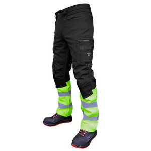 Softshell trousers Mercury, Hi-Vis black/yellow C50, Pesso