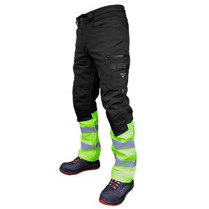 Softshell trousers Mercury, Hi-Vis, black/yellow C50, Pesso