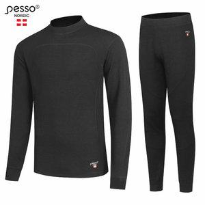 Soojapesu komplekt MERINO80, must, Pesso