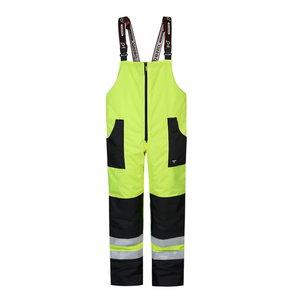 Kõrgnähtavad talvepüksid MONTANA traksidega, kollane XL