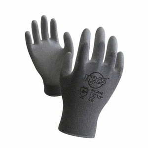 Gloves, nylon, PU coating on palm, grey,  7, Inxs