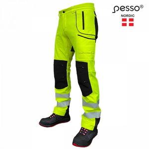 Softshell trousers Nebraska, Hi-Vis CL2, yellow/black C50, Pesso