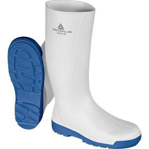 Rubber safety boots  Nitric SBFO SRC, white/blue, Delta Plus