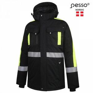 Žieminė striukė Nova, juoda/geltona S, Pesso