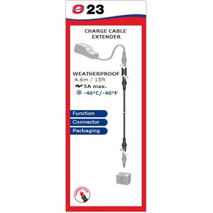 Weatherproof charge cable extender (4,6m), 10A max, Tecmate