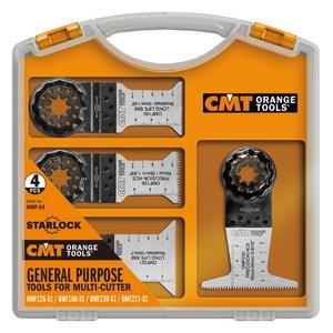 Multitööriista terade komplekt puidule 4 osaline STARLOCK, CMT