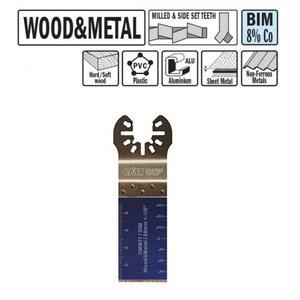 Zāģēšanas asmens kokam un metālaml 28mm BiM Co8, CMT