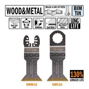 Multitööriista tera 45mm puidule ja metallile, CMT