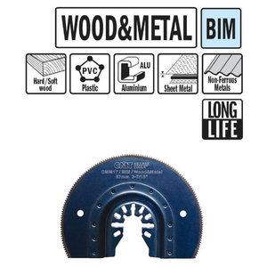 Multitööriista tera puidule ja metallile BIM 8%Co 87mm