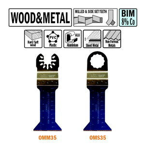 5 SAW BLADES FOR WOOD AND METAL BIM, CMT