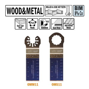 Multi-cutter tool for wood and metal BiM Co8 28x48mm Z18TPI, CMT