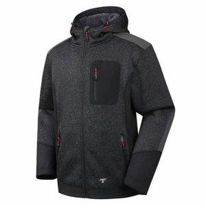 Džemperis su gobtuvu Oregon, šiltas pamušalas, juoda L, , Pesso