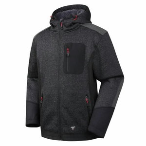 Džemperis su gobtuvu Oregon, šiltas pamušalas, juoda XL