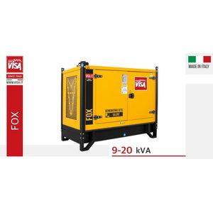 Generatorius VISA 13,1 kVA P14 FOX, ATS, su pagrindu, Visa