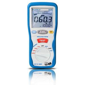 Digitaalne isolatsioonitester 1000V / 4000 MOom, PeakTech