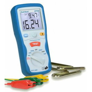 Earth Resistance Tester, 3 1/2-digit, Peaktech