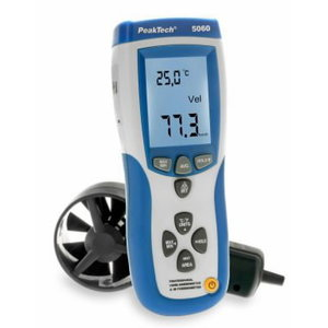 Vane-anemometer and IR-thermometer with USB, PeakTech