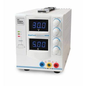 Digit. toiteallikas 0 - 30 V/0 - 5 A DC, PeakTech