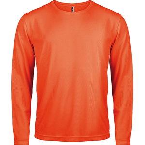 T-särk Kariban Proact pikk varrukas kõrgnähtav, oranz 2XL