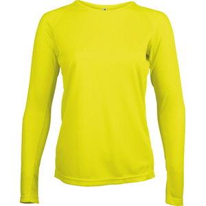 Kõrgnähtav särk pikkade käistega Proact naistele kollane