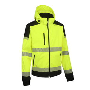Augstas redzamības softshell jaka Palermo, dzeltena/melna L