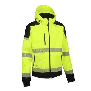 Augstas redzamības softshell jaka Palermo, dzeltena/melna XL, Pesso