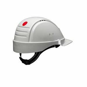 Hard Hat, Uvicator, ratchet, ventil. plastic sweatb., white, 3M