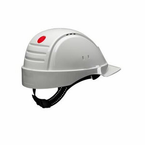 Hard Hat, Uvicator, ratchet, ventil. plastic sweatb., white G3000NUV-10-VI, 3M
