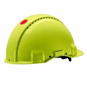 Helmet G3000 VENTED, PLASTIC RATCHET HARNESS, HI-VIZ, 3M