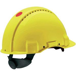 Peltor Uvicator button adjustable helmet yellow G3000NUV-RD, , 3M