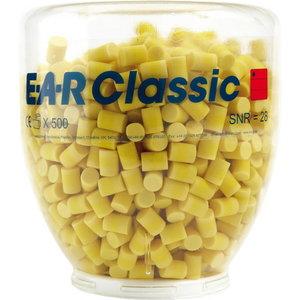 Противошумные вкладыши для ушей (беруши) E-A-R Classic, в упаковке/пластмасс. флаконе 500 пар, , 3M