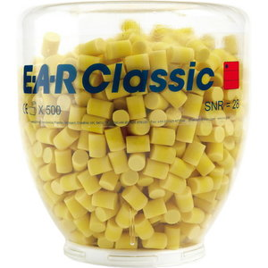 Противошумные вкладыши для ушей (беруши) E-A-R Classic, в упаковке/пластмасс. флаконе 500 пар, 3M