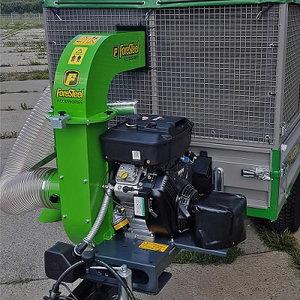 Leaf and lawn vacuum PROvac (18 hp petrol engine), Foreststeel