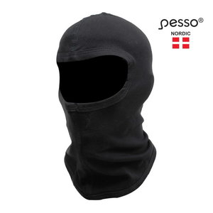 Balaclaca , cotton, black, Pesso
