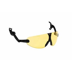 Apsauginiai  akiniai, tvirtinami prie šalmo  V9A , geltoni, 3M
